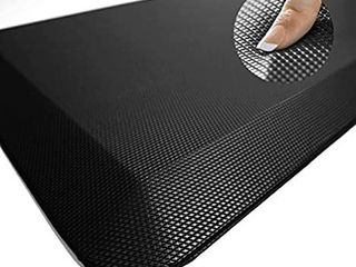 Anti Fatigue Mat   Cushioned Comfort Floor Mats for Kitchen  Office   Garage   Padded Pad for Office   Non Slip Foam Cushion for Standing Desk  20x32x3 4 Inch  cream grey red pattern