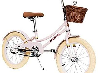 ACEGER Girls Bike with Basket for Kids  16 inch with Training Wheels and Kickstand  PURPlE
