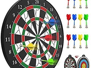 STREET WAlK Magnetic Dart Board   12pcs Magnetic Dart   Excellent Indoor Game and Party Games   Magnetic Dart Board Toys for 5 6 7 8 9 10 11 12 Year Old boy Kids and Adult