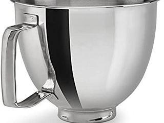 KitchenAid Polished Stainless Steel Bowl with Handle  Metallic
