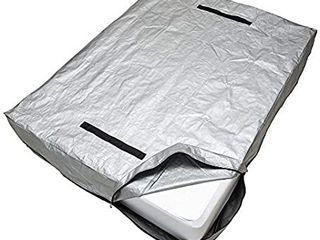 Caloona Mattress Bags for Moving and Storage Patent Pending Reusable Mattress Cover for Moving King Size with Reinforced Handles and Heavy Duty Zipper Extra Thick Mattress Protector Storage Bag Size   Full