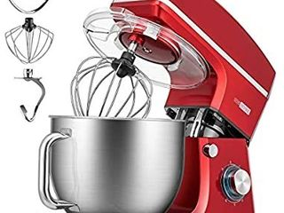 VIVOHOME 7 5 Quart Stand Mixer  660W 6 Speed Tilt Head Kitchen Electric Food Mixer with Beater  Dough Hook and Wire Whip  ETl listed  Red