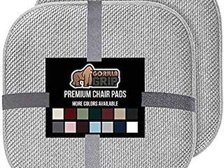 Gorilla Grip Original Premium Memory Foam Chair Cushions  4 4 Pack  Gray