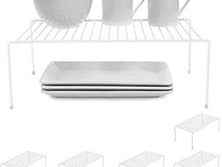 Smart Design Stacking Cabinet Shelf Rack   large  16 X 10 Inch    Steel Metal