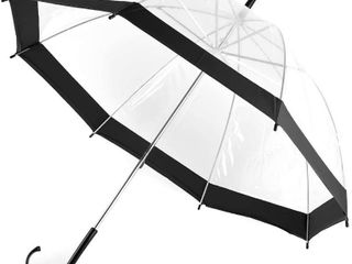 Kids Clear and Transparent Umbrella with an Easy Grip Handle