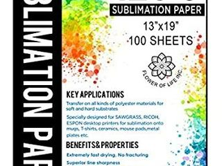 Sublimination Paper Size 13x19 Inches
