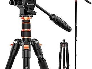 GEEKOTO 77 Inches Video Camera Tripod