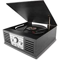 D l Classic Record Player with AM FM