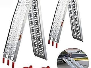 loading Ramps Folding  gardhom 2 PC 1500 lbs Capacity 7 5  Aluminum lightweight Portable Ramps For ATV Motorcycles Dirt Bikes lawnmowers Truck