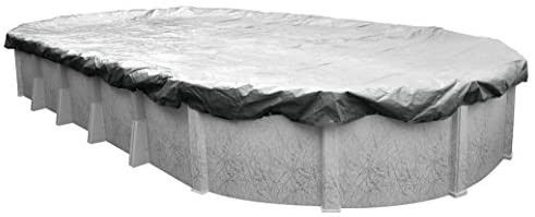 Pool Mate 551833 4 Heavy Duty Silverado Winter Pool Cover for Oval Above Ground Swimming Pools