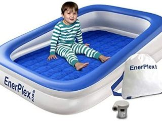 EnerPlex Kids Inflatable Travel Bed with High Speed Pump  Portable Air Mattress for Kids