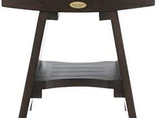 Teak Shower Bench Fully Assembled with Shelf