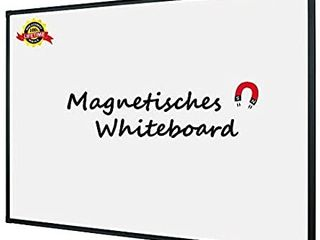 lockways Magnetic Dry Erase Board  Whiteboard 36 x 24 Inch  White Board 3 x 2  Ultra Slim Black Aluminium Frame  1 Aluminum Marker Tray  1 Dry Erase Markers  2 Magnets for School  Home  Office
