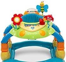 Delta Children lila Play Station 4 in 1 Activity Walker   Rocker  Activity Center  Bouncer  Walker   Adjustable Seat Height   Fun Toys for Baby  Blue