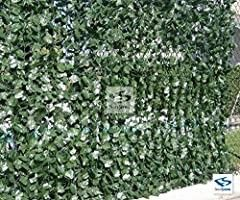 NatraHedge Decorative Artificial Ivy leaf Green Hedge Roll 94  x 39