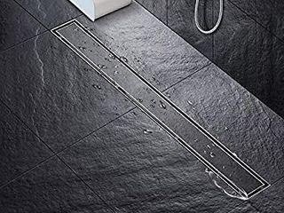 SaniteModar linear Shower Drain 24 inch with 2 in 1 Tile Insert Cover