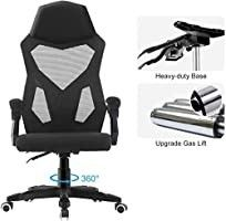 HOMEFUN Ergonomic Office Chair  High Back Executive Desk Chair Adjustable Comfortable Task Chair with Armrests with lumbar Support Black Pre Built