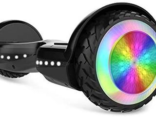 HYPER GOGO Hoverboard  Off Road All Terrain 6 5 inches Hoverboards with Bluetooth Speaker  Colorful lED light Wheels  Ul Certified Self Balancing Scooter