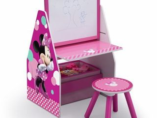 Disney Minnie Mouse Deluxe Kids Art Table  Easel  Desk  Stool   Toy Organizer by Delta Children
