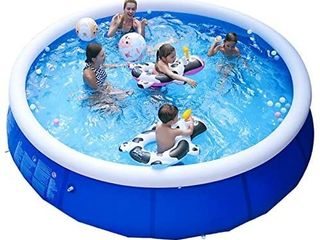 Good Jilong Marin Blue Inflatable Pool Size 8ft X 30in Untested  sb1625