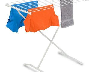 Honey Can Do X Frame Folding Metal Drying Rack with Rubber Feet  White