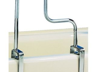 Carex Tri Grip Bathtub Safety Rail Grab Bar with Chrome Finish