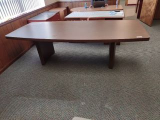 large Wooden Conference Table   Approx  96in l x 43in W x 28in H