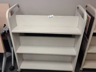 Metal Double Sided Book Cart