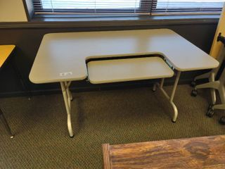 Table with Adjustable Keyboard Tray  Approx  48  l x 30  W x 29  H