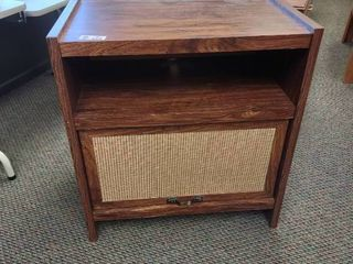 Wooden Cabinet with Slide Up Door  Approx  28  l x 17  W x 30  H
