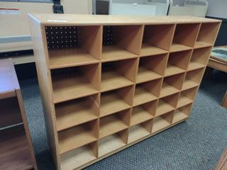 Small Wooden Cubby Cabinet  Approx 48  l x 12  W x 36  H