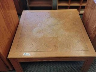 large Wooden Coffee Table   Approx  36  l x 36  W x 15  H