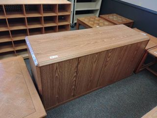 long Wooden Cabinet  Approx  60  l x 20  W x 29  H