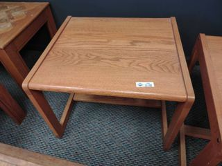 Wooden Side Table  Approx  26  l x 24  W x 20  H