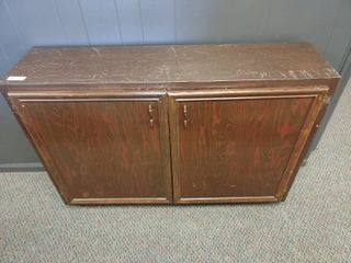 large Wooden Kitchen Cabinet  Approx  50  l x 13  W x 35  H