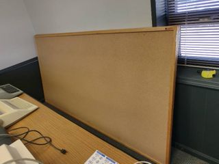 Huge Cork Board with Wood Frame  Approx  97  x 49