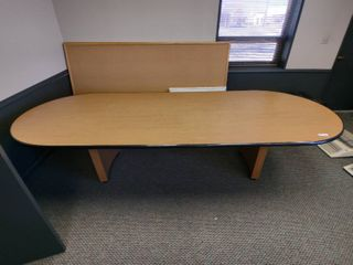 Racetrack Conference Table  Approx  120  l x 46  W x 29  H