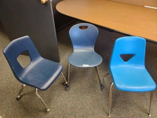 lot of 3 Plastic School Chairs