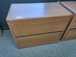 2 Drawer lateral Wooden Filing Cabinet with Keys  Approx  36  l x 20  W x 30  H