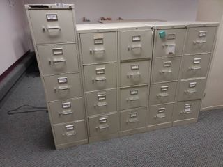 lot of 5 Hon Filing Cabinets