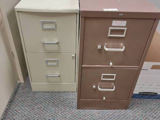 lot of 2 2 Drawer Filing Cabinets