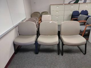 lot of 3 large Waiting Room Chairs