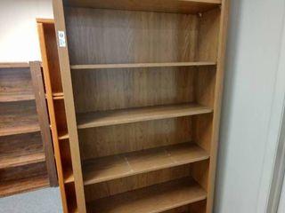 large Wooden Bookshelf  Approx  39  l x 12  W x 83  H