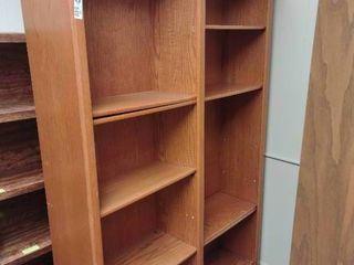 large Wooden Bookshelf  Approx  48  l x 13  W x 72  H