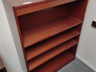 Wooden Bookshelf  Approx  36  l x 12  W x 48  H