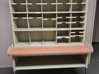 large Metal Desk with Mail Organizer  Approx  83  l x 30  W x 72  H