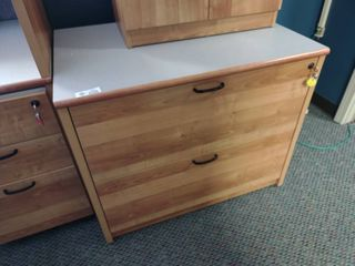 Wooden 2 Drawer lateral Filing Cabinet  Approx  36  l x 24  W x 29  H