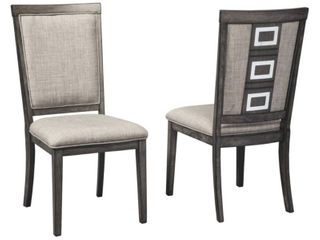 Chadoni Dining Room Chair   Set of 2   Gray  Retail 262 49