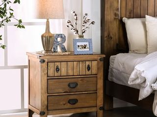 Furniture of America Sierren Farmhouse 3 drawer Nightstand with USB Outlet  Retail 424 99