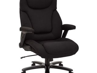 Big and Tall Deluxe High Back Executive Office Chair in Black Fabric  Retail 402 99